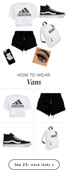 """Untitled #144"" by alondra7605 on Polyvore featuring Nobody Denim, Topshop and Vans"
