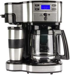 Hamilton Beach 49980Z LCD Two Way Brewer Single Serve and 12-cup Coffee Maker