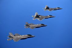 Ultra-HD photos of F-22s and F-35s flying together for the first time