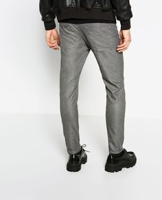 Textured Weave Trousers Zara Man