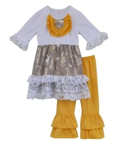 84b4d297e0477 2017 Fall/ Winter Yellow Forrest Lace Boutique Ruffle Outfit. 2017 Fall/  Winter Yellow Forrest Lace Boutique Ruffle Outfit Children's Boutique, Baby  ...