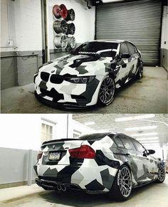 BMW E90 M3 camo