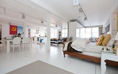 LondonThe main bedroom in this warehouse loft conversion can either be opened up to be part of the spacious living area or shut off via sliding doors. The apartment is in a converted warehouse in the heart of east London?s regenerated Shoreditch. Features include a Corian kitchen and two secure underground car parking spaces.£3.25 million, Sotheby?s, 020 7458 4485