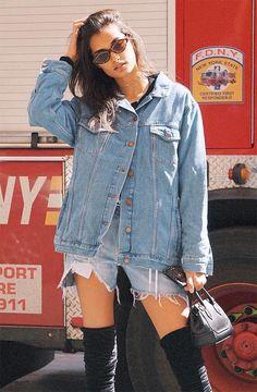 Gizele Oliveira mostra como usar jeans com jeans