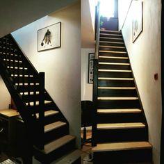 Peinture escalier noir.