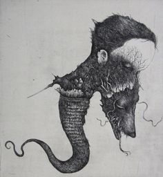 Nao Ikuma - 生熊 奈央 /  JAPAN / printmaking, etching, horror, black and white, Overcrowded image, pen&ink, illust, drawing.
