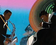 Jazz Rhapsody - Romare Bearden  (Walter O. Evans Collection)