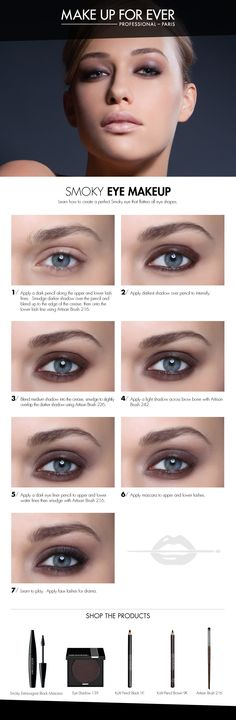 Smoky Eye Makeup // Make Up For Ever