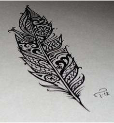 Feather tattoo - cool