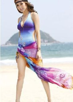 Colorful Floral Printing Multi-use Beach Swimwear Cover