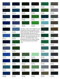 Auto paint codes coe colors for 1952 auto paint colors codes colour chart charts graphics fandeluxe Choice Image