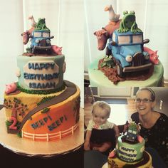 """""""This weekend I volunteered for @icingsmiles and had the opportunity to bake a Little Blue Truck birthday cake for an amazing 2 yr old boy named Isaiah who…"""""""