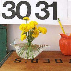 Glass Chickadee Vase      $18.00