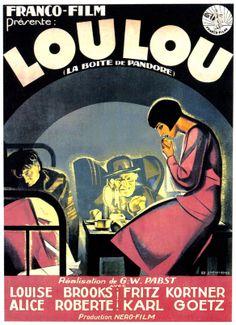 "French movie poster, ""La Boite de Pandore"" (AKA Die Büchse der Pandora  / Pandora's Box), 1929, directed by G.W. Pabst, starring Louise Brooks."