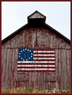 Patriotic Barn by GoodTimes33
