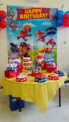 Jaxsons 3rd birthday paw patrol candy treat buffet