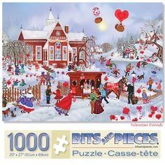 Set of My Sweet Valentine 1000 Piece Jigsaw Puzzles My Sweet Valentine, Valentines Day Gifts For Him, Remember Day, Christmas Scenes, Wooden Gifts, 1000 Piece Jigsaw Puzzles, Crocheting, Flowers, Knitting