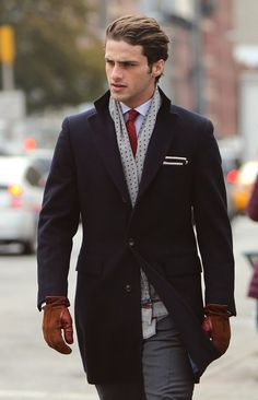 Navy blue would go well over my grey suit, but might look monotonous with my navy suit.