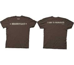 ME--Amazon.com: Browncoat I Aim to Misbehave Serenity Firefly T-shirt Tee,Brown, (XXL): Clothing