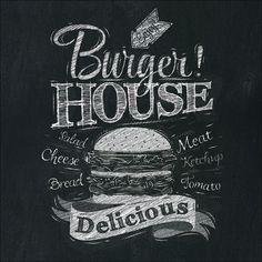 Amazon.de: Pro-Art gla1012a Wandbild Glas-Art 'Burger House' 30 x 30 cm