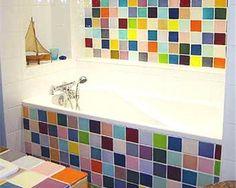 salle de bain colore