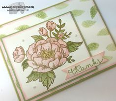 Blooming Love Cottage Greetings 1 - Stamps-N-Lingers Birthday Bouquet, Thanks Card, Stamping Up Cards, Flower Cards, Happy Sunday, Back Home, I Card, Thank You Cards, Stampin Up