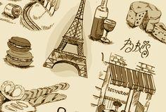 パリっぽいおしゃれなイラスト素材を集めてみました。パリっぽいといえばやっぱりエッフェル塔と凱旋門…