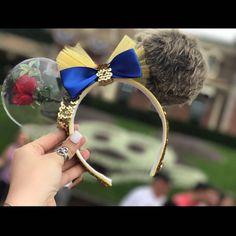 Beauty and the Beast/ Minnie Mouse ears/ Disney Ears/ Headband