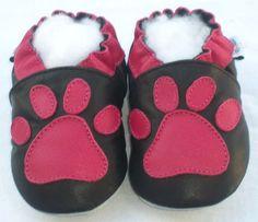 Littleoneshoes(Jinwood) Soft Sole Leather Baby Infant Kid PawBlack Shoes 18-24 #Jinwood #CribShoes #InfantToddlerFootwear