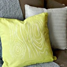 Customize $1 pillow covers from the dollar store - Mad in Crafts