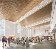 Completed in 2016 in Clemson, United States. Images by Jonathon Hillyer. The Clemson University Core Campus Dining Facility is a square foot, seat modern food service facility that offers freshly prepared. University Architecture, School Architecture, Modern Food, Hall Design, Learning Spaces, Ceiling Design, Design Firms, Urban Design, School