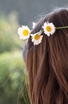 """Let us dance in the sun, wearing wild flowers in our hair. Little Flowers, Wild Flowers, Daisy Love, Daisy Daisy, Daisy Chain, Girl Photography Poses, Jolie Photo, Stylish Girl, Girl Photos"