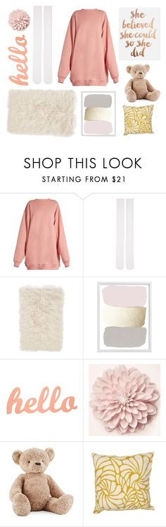 """""""Lazy Sunday"""" by deadlynight ❤ liked on Polyvore featuring Acne Studios, Marieyat, Nordstrom, Jellycat and Jaipur Living"""