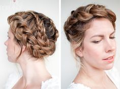 love these braids-so pretty and romantic!
