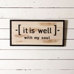 """""""It is Well"""" Shiplap Sign - Magnolia Market 