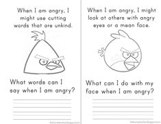 SG Anger Management - Elementary School Counseling - Don't Be An Angry Bird: Free Printables