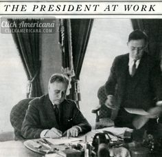 See President Franklin D Roosevelt at work (1935)