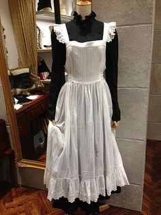 apron dress Maid Dress, Apron Dress, White Dress, Costumes, Niqab, Maids, Aprons, Clothes, Yahoo