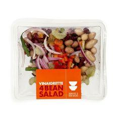 Vinaigrette Four Bean Salad Four Bean Salad, Side Salad, Vinaigrette, Beans, Container, Sky, Vegetables, Food, Heaven