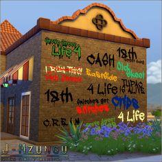 Sims 4 CC's - The Best: Graffiti by J-Mzungu