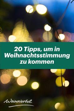 Damit du bereits jetzt in Advent- und Weihnachtsstimmung kommst, haben wir einige Tipps für dich gesammelt, mit denen du die schönste Zeit des Jahres so richtig genießen kannst: 1. Bereite dir einen selbstgemachten Glühwein zu und backe typische Weinviertler Kekse. 2. Bastle Tannenbäumchen aus Zapfen & Kork als Weihnachtsdeko. 3. Stöbere in unseren Geschenke-Tipps. 4. Gewinne tolle Preise bei unserem Online Adventkalender ... © Weinviertel Tourismus / Christine Wurnig Advent, Tourism, Christmas Time, Biscuits, Homemade, Amazing, Christmas, Tips, Gifts