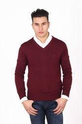 Versace 19.69 Abbigliamento Sportivo Milano mens V neck sweater 9801 SCOLLO V BORDEAUX