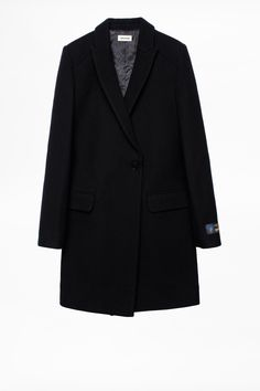 Available in black black. Coats For Women, Blazer, Jackets, Style, Fashion, Black Coats, Women's Coats, Zadig And Voltaire, Girls Coats