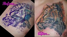 Cover-up done by Jason Taylor  (Ope) at Infinity Ink, Sturgis, MI