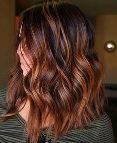 Copper Balayage Brunette, Brown Hair Balayage, Summer Hairstyles, Brown Hairstyles, Office Hairstyles, Anime Hairstyles, Stylish Hairstyles, Hairstyles Videos, Hairstyle Short