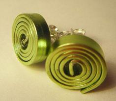 espiral verde aluminio plano a mano