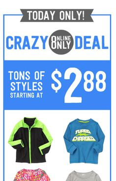 Crazy8 $2.99 Sale: Items as low as $.88 (Today Only!)