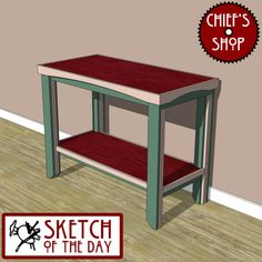 Sketch of the Day: Simple Hall Table