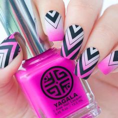 Pink Geometric Gradient Nails ❤️ Over 30 Spicy Ombre Nails Transitions To Try! ❤️ See more: naildesignsjourna. Umbre Nails, Pink Ombre Nails, Gradient Nails, Gel Nails, Nail Polish, Striped Nail Designs, Ombre Nail Designs, Striped Nails, Nail Art Designs