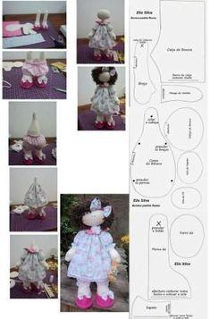 Tilda doll Nursery doll Fabric doll Puppen Interior doll Textile doll Handmade doll Bonita doll Brown doll Cloth doll Bambole by Tanya E Doll Sewing Patterns, Sewing Dolls, Doll Clothes Patterns, Doll Crafts, Diy Doll, Homemade Dolls, Fabric Toys, Doll Tutorial, Waldorf Dolls